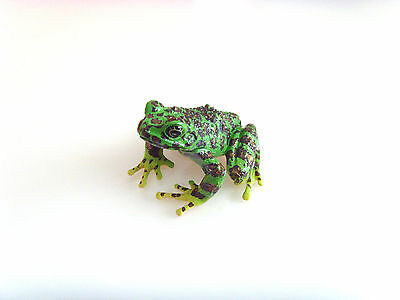 RARE Kaiyodo ChocoQ Series 8 Japanese Spotted Green Frog FIgure