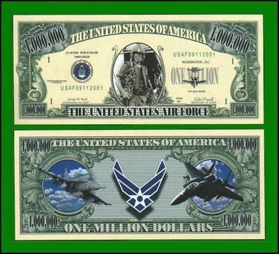 25 Factory Fresh Novelty Air Force Million Dollar Bill