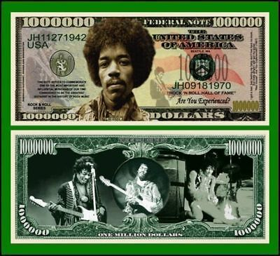 5 Factory Fresh Jimi Hendrix Million Dollar Bills
