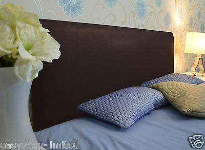 Luxury Quality Brown Plain 3Ft Single Leather Headboard Bed Home Sale on Ebay