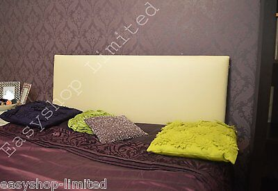 3FT Cream Leather Single Headboard Bed Beds Plain Direct From Factory Ebay