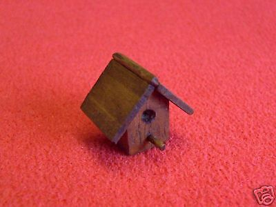 Dolls House Miniature Stained Bird Box