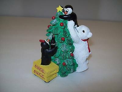 1995 Coca Cola Polar Bear Cubs Thanks for the Lift 342 Penguin Limited Edition