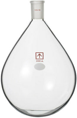 Ai 24/40 Heavy Wall 2L Oval-Shaped Round Bottom Flask for 2L Rotary Evaporator