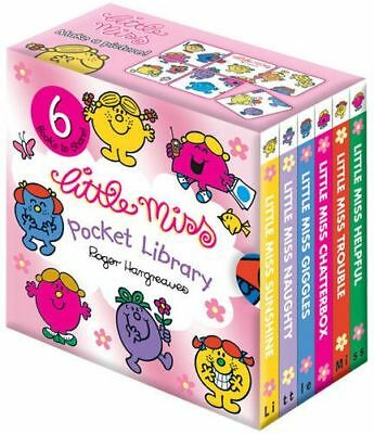 Little Miss Pocket Library Collection 6 Books Gift Set Roger Hargreaves NEW