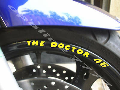 Sticker Autocollant Liseret Jante The Doctor 46 Rossi