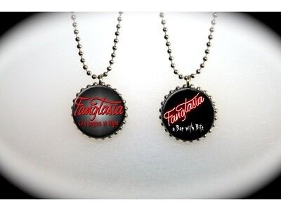TRUE BLOOD Fangtasia Bar 2 sided necklace Vampires