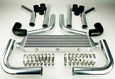 "UNIVERSAL INTERCOOLER 550x140x62MM AND 2.25"" PIPING KIT BLACK"