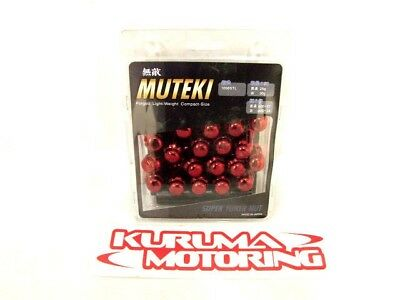 Muteki 32926RP Red Closed End Set of 20 Lug Nuts /& Adapter Key 12x1.50