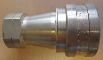 "ISO 'B' 1"" BSP Tomco Socket Brass Hydraulic Coupling TH8-36-002"