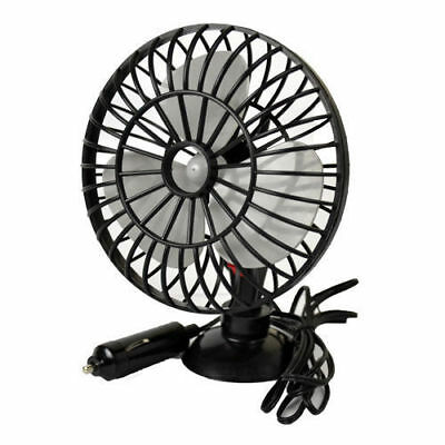 Car fan dash stick on cool air cooled hot 4x4 van 12V Window suction windscreen