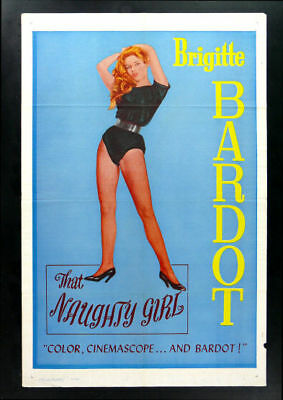 That Naughty Girl * Orig Movie Poster Brigitte Bardot