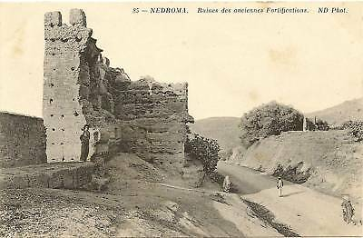 Cpa Algerie Nedroma Ruines Des Anciennes Fortifications
