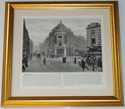 Seven Dials St Giles London Dated 1896 page over 120 years old