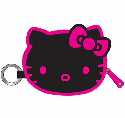Coins Purse Hello Kitty NEW Wallet keychain -Black/Pink
