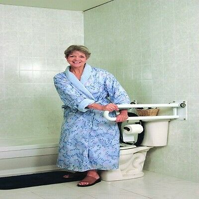 Toilet Safety PT P.T. Pull Fold Up Rail Grab Bar Handle