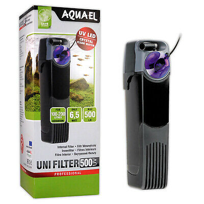 Aquael Internal 500 Uv Aquarium Fish Tank Power Filter
