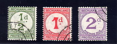 Bechuanaland 1932 Postage Dues Sg D4-D6 Fine Used.
