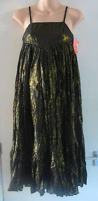 BNWT ASOS Black Gold Strappy Maternity Dress Size 10
