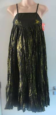 BNWT ASOS Black Gold Strappy Maternity Dress Size 12