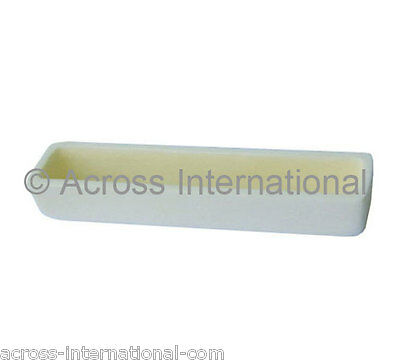 100x20x20mm LxWxH Alumina Crucible Boat Sample Holder for Tube Muffle Furnaces