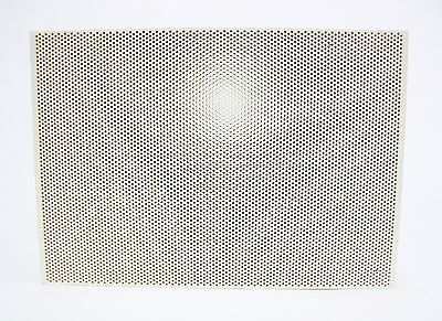 """Ceramic Board Honeycomb Soldering Board Perforated 5-1/2"""" x 7-3/4"""" x 1/2"""" Large"""