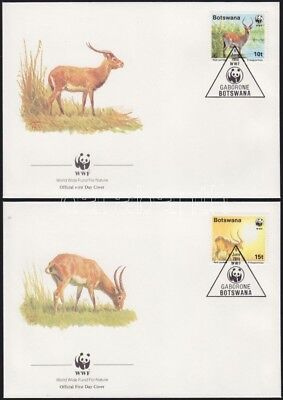 Botswana stamp 1988 WWF Antelopes Animals WS75592