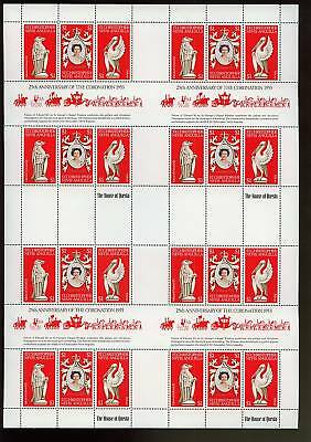 St. Christopher 1978 Coronation Uncut Sheet Sheetlets