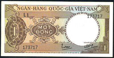 VIETNAM   SOUTH   -  1  DONG   1964   AU  -   P 15  about Uncirculated Banknotes