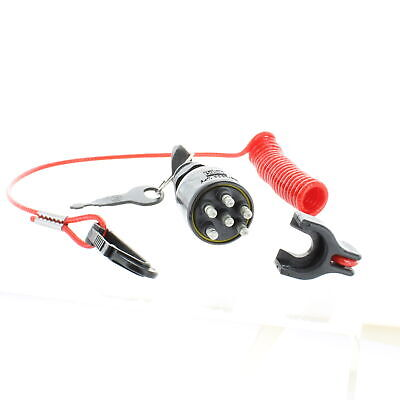 Evinrude/Johnson/BRP New OEM Ignition Key Switch & Safety Lanyard 5005801