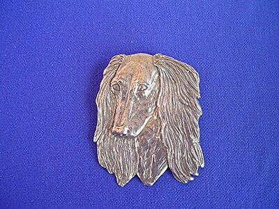 Pewter Saluki Pin Head #15L Dog Jewelry by Cindy A. Conter Sighthound Coursing