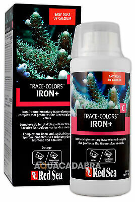 Red Sea Trace Colours Iron+ C - Promotes Green, Marine Reef Aquarium Supplement