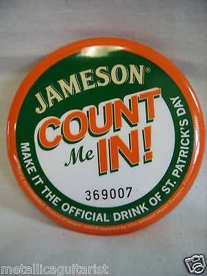 Jameson Irish Whiskey - St. Patricks Day Promo Pin  New