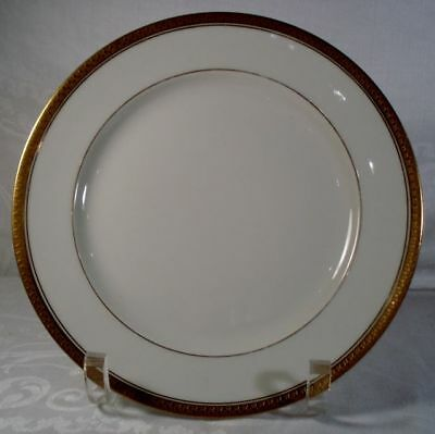 Limoges White and Gold Salad Plate