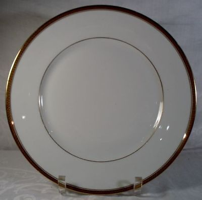 Limoges White and Gold Dinner Plate