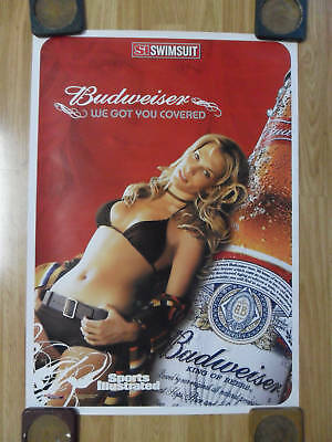 Sexy Girl Beer Poster ~ Bud Budweiser Sports Illustrated Swimsuit