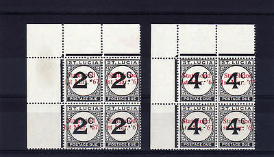 ST.LUCIA 1965 2c & 4c STATEHOOD OPT. IN RED D11-12 MNH.