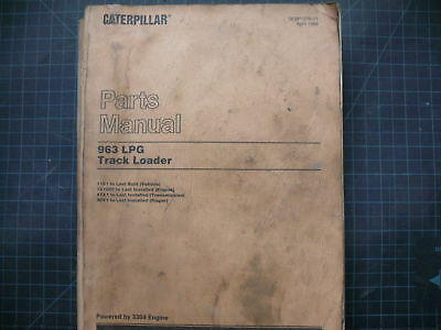 CAT CATERPILLAR 963 LPG Track Loader Parts Manual Book Catalog crawler  spare oem