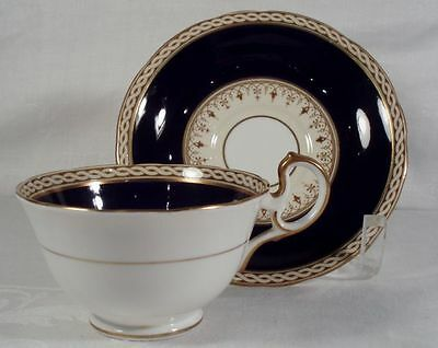Aynsley Desborough-Blue Cup and Saucer