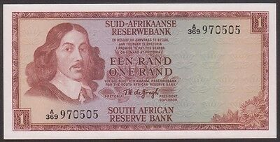 SOUTH AFRICA  1  RAND 1967  AU/UNC   P 110b  Sign. 5  Uncirculated Banknotes