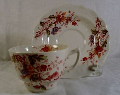 Ridgway English Garden Cup and Saucer