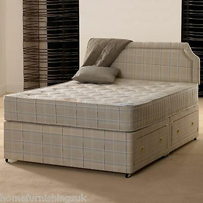 4ft 6 Double Paris Orthopaedic Divan Bed with Mattress