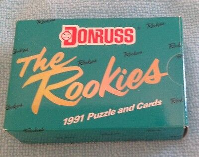 """1991 Donruss """"The Rookies"""" Baseball Puzzle And Cards Factory Unopened Set - NIB!"""