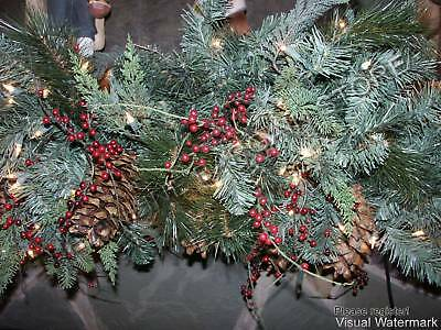 Frontgate Estate Mantel Staircase Christmas Door Swag garland Greenery 9' 45731