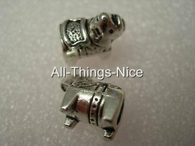 ELEPHANT 14x12mm Charm 4.5mm Hole Spacer Beads Fashion Jewellery Findings 2