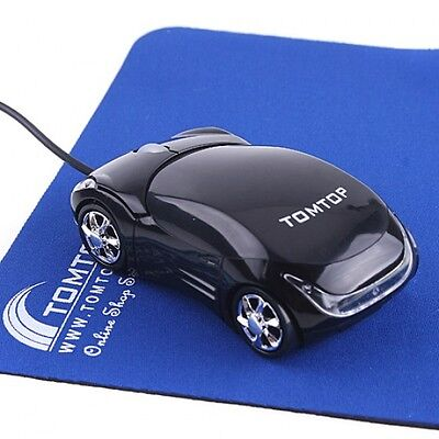 Blue Car Shape 3D Optical USB Wired MouseMice for Computer PC Laptop Notebook