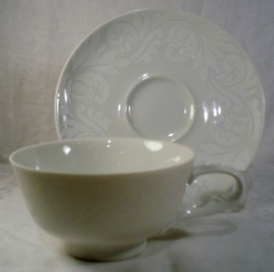 Easterling Double Damask Cup and Saucer