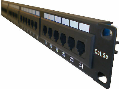 Cat5E Cat 5E RJ45 Patch Panel Rack Mountable 24 port