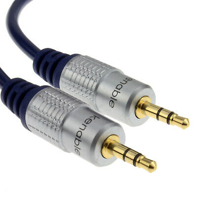5m HQ OFC Shielded 3.5mm Stereo Jack to Jack Cable Gold