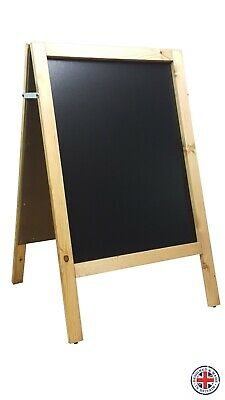 WOODEN A BOARD -CHALKBOARD -PAVEMENT SIGN - QUALITY- 100cm x 62cm - WEIGHT 10 KG
